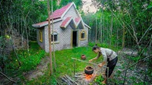 آموزش ساخت ویلای طرح اروپایی در جنگل به روش ساده – بخش 1