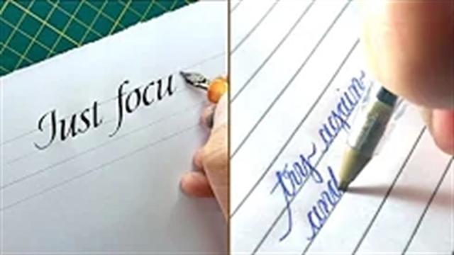 آموزش خوشنویسی انگلیسی با خودکار