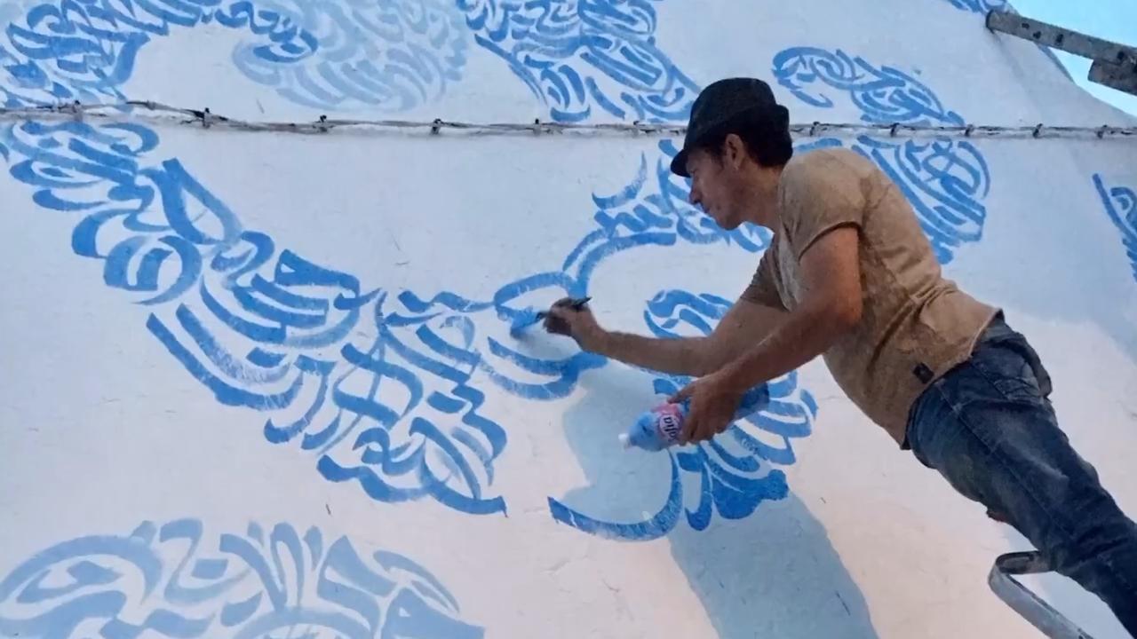 آموزش خطاطی حرفه ای دیواری سبک گرافیتی 4